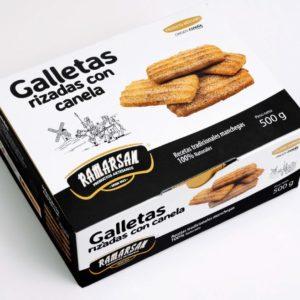GALLETAS RIZADAS CANELA Y CAÑA DE AZUCAR 500 G