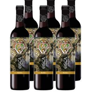 vino tinto osca roble 6 botellas